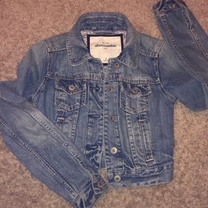 Abercrombie and Fitch girls size 7 denim jacket